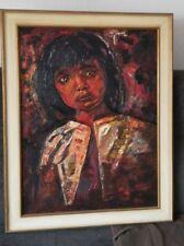 WPopping Art design Gemälde 60er Jahre mid century 60s Mädchen traurig Pop-Art