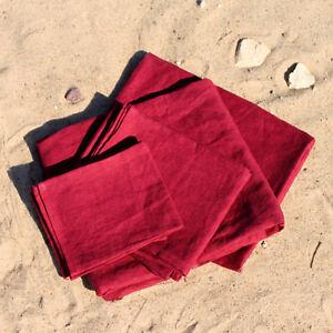Baltic Linen Flax 100%  Natural Sauna SPA Bath Beach Handmade Towels SET of 6