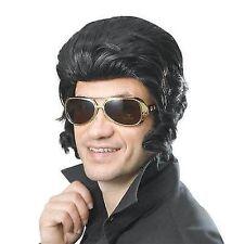 Rock Star Wig With Big Sideburns Teddy Boy 50s Fancy Dress Costume Accessory