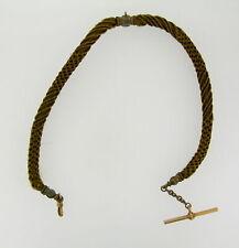 Pocket Watch Chain Victorian Era Human Hair