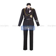 Axis Powers Hetalia Prussia Gilbert SS Uniform COS Cloth Cosplay Costume