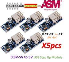 5pcs 0.9V-5V to 5V DC-DC USB Voltage Converter Step Up Power Supply Adapter