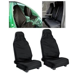 Universal Car Front Seat Protectors Cover Protect From Sweat Stains Odors Black