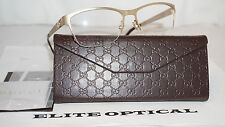 New Authentic GUCCI RX Eyeglasses Gold Matte Shade GG 4236 820 54 16 135