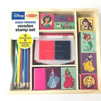 Melissa & Doug Disney Princess Wooden Stamp Set NEW Sealed