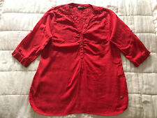 Womens Gia Curves Red Summer Top Size Large