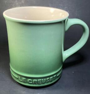 Le Creuset Stoneware Coffee Mug Cup Green Small Chip