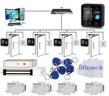 4 Doors Bio Fingerprint Access Control Systems 600lbs Magnetic Lock Power Supply