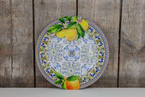 Easy Life - Teller / Dessertteller - Capri Agrumi - Zitronen Orangen - Italien
