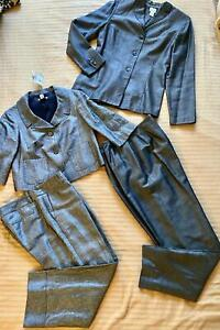 Lot 4 Ann Taylor Loft Gray Lined Suits New Jackets sz 2 Pants sz 6
