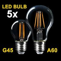 Vintage Edison LED Filament Bulb Light Lamp SES E14 ES E27 B22 BC Globe GLS Golf