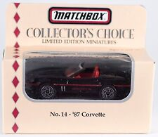 Matchbox Collector's Choice No.14 '87 Corvette 1:64 New In Box 1994