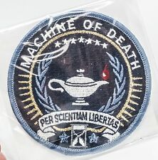 NEW MACHINE OF DEATH GAME  PER SCIENTIAM LIBERIAS SHIRT PATCH INSIGNIA LAMP LOGO