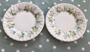 """MINTON SPRING VALLEY SET OF 2 X 6.25"""" TEA SIDE PLATES (2ND QUALITY)"""