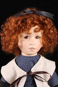 English Artist Linda Murray Shell Cloth Red Hair Studio Milly Doll Rare OOAK Box