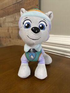 "Nickelodeon Paw Patrol Pup Pals 8"" Tall Everest Plush Stuffed Animal Husky Dog"