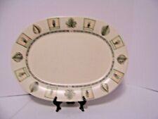 "Pfaltzgraff Pottery Stoneware Naturewood Oval Serving Platter 14"""