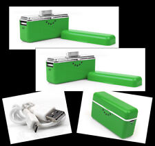 2X 2800MAH PORTABLE EXTERNAL GREEN BATTERY CHARGER USB IPHONE 4S 4 3GS IPOD NANO