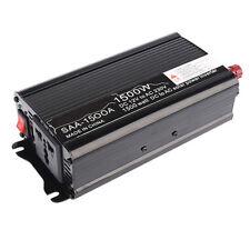 DC 12V To AC 220V 1500W Car Truck Power Inverter Charger Converter Sine Wave