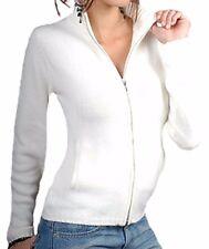 Balldiri 100% Cashmere Kaschmir Damen Strickjacke 6-fädig weiß S