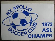 1973 ASL CHAMPS STICKER - New York Apollo Soccer Club