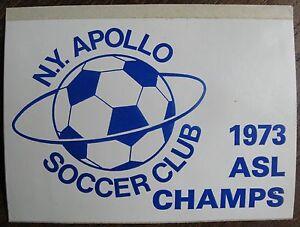1973 ASL CHAMPS STICKER - New York Apollo Soccer Club