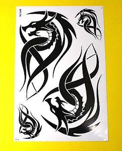 Bogen Aufkleber Sticker - TRIBAL Dragon  Tattoo schwarz                    #104