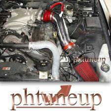RED 2003-2004 MERCURY MARAUDER 4.6 4.6L V8 AIR INTAKE KIT SYSTEMS TRUCK FILTER