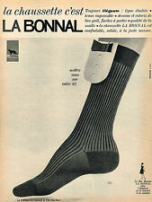PUBLICITE ADVERTISING  1965    LA BONNAL  chaussettes
