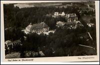 Bad Steben Bayern Postkarte um 1940 Teilansicht Wald Luftbild Fliegeraufnahme