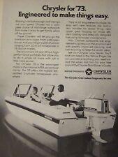 "1973 Chrysler 55 Outboard Original Print Ad-8.5 x 10.5"""