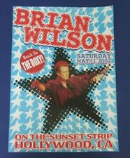 Beach Boys Brian Wilson Back To The Roxy Sunset Strip Poster Art By Mark London