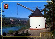 Postkarte Trier Fotokunst Schwalbe: 2/8 Moselufer mit unterem Kran (1413)