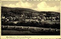 Bad Liebenstein alte Ansichtskarte ~1930 Gesamtansicht von der Reichshöhe Wald