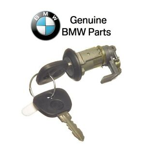 For BMW E30 318i 325 Front Driver Left Door Lock Cylinder w/ Key Tumbler GENUINE