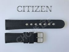 Genuine Citizen Eco-Drive BM8475-00E, BM8475-00F 22mm Black Nylon Watch Band