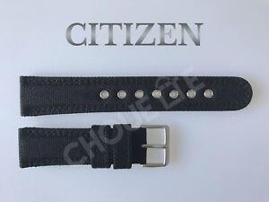 Genuine Citizen Eco-Drive BM8475-00E, BM8475-00F 22mm Black Nylon Watch Band