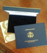 2007-W UNCIRCULATED GOLD AMERICAN EAGLE (4-pc Set Mint Packaging)  NO COINS!