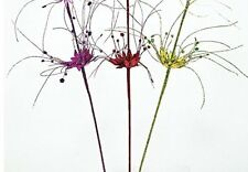 """Katherine's Collection Purple Green Red 32"""" Glitter Flowers (Set/3)"""