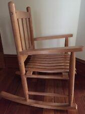 Children's Honey Wood Rocking Chair
