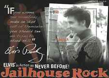 Elvis Presley The Gambia D60 Stamp Souvenir Sheet Jailhouse Rock Music Legend