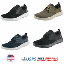 Mens Fashion Sneakers Suede Classsic Walking Shoes Lace up Casual Shoes