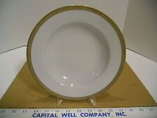 "Ba Aria German Porcelain Off White and Gold Trimmed 8 5/8"" Soup Cereal Bowl, EUC"