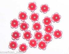 50 bijoux Déco d'Ongles Tranches de Fimo Fleurs rouges 3 Nail Art