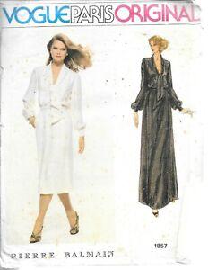 Pre-cut checked vintage Vogue 1857 ladies 12 Pierre Balmain dress blouson lovely