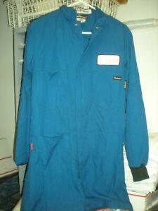 Workrite FR MED-RG Blue NOMEX 2112 Flame Retardant Lab Coat 357NX45RB 4.4ARC VG