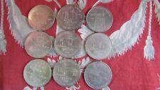 lot de 9 monnaies medaille 1 dollar du carnaval quebec canada  annees 78 80 81