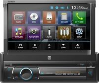 "Dual In-Dash DVD Multimedia Receiver w/ 7""Pop-Up Touchscreen Display & Bluetooth"