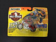 1992 #VINTAGE Matchbox RED Harley Davidson Stunt Action Bike #MOSC