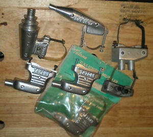 7 lot R/C airplane MUFFLERS for glow engines 5 TATONE + 2 Pitts with clamps